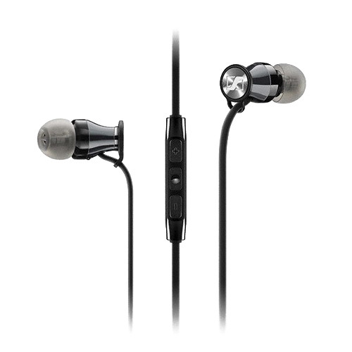 Sennheiser HD 1 In-Ear Headphones for Samsung Galaxy and Android Devices (Black/Chrome)