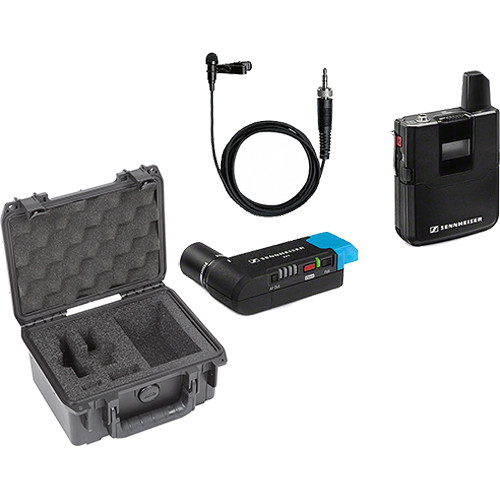 Sennheiser AVX-ME2 SET Digital Camera-Mount Wireless Omni Lavalier Microphone System with Case Kit (1.9 GHz)