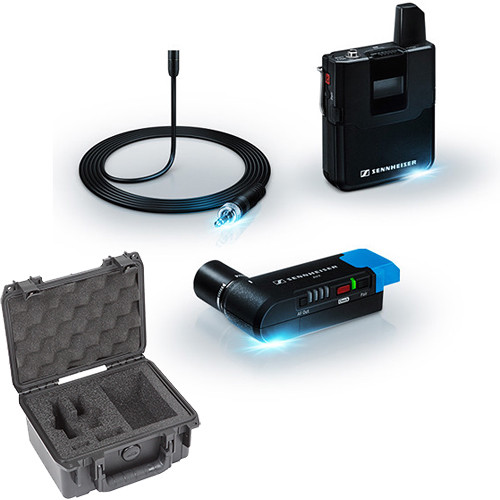 Sennheiser AVX Camera-Mountable Wireless Set with MKE2 Lav & Waterproof Case Kit (Ch 8: 1920 to 1930 MHz)