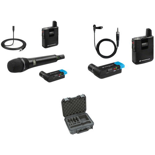 Sennheiser AVX 2-Person Digital Camera-Mount Wireless Combo Microphone System with Case Kit (1.9 GHz)