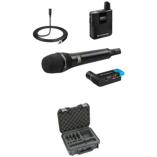 Sennheiser AVX Handheld and Lavalier Set with SKB Case Kit (Ch. 8: 1920 to 1930 MHz)