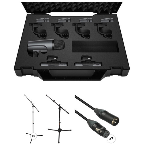 Sennheiser Drum Miking Kit with Stands & Cables
