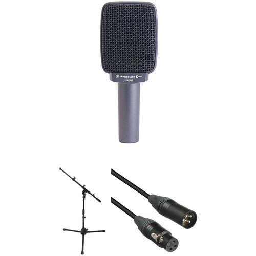 Sennheiser e609 Dynamic Microphone with Short Telescoping Boom Stand and Cable Kit