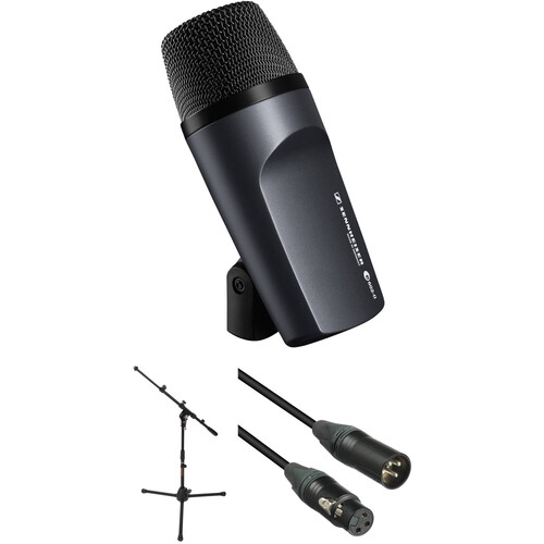 Sennheiser e 602 II Cardioid Instrument Microphone with Stand and Cable Kit