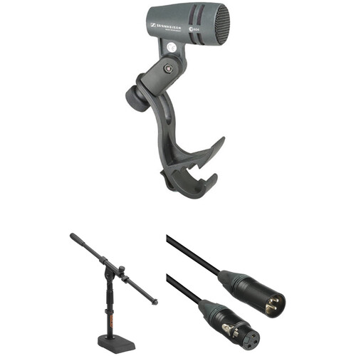 Sennheiser e 604 Cardioid Instrument Microphone with Stand and Cable Kit