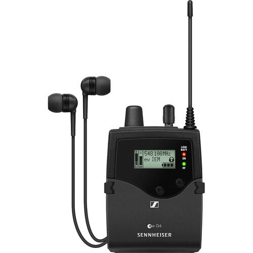 Sennheiser EK IEM G4 Stereo Bodypack Receiver with IE 4 Earphones (A1: 470 to 516 MHz)