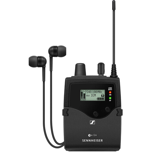 Sennheiser EK IEM G4 Stereo Bodypack Receiver with IE 4 Earphones (A: 516 to 558 MHz)