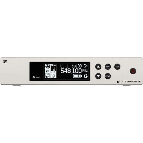 Sennheiser EM 100 G4 Wireless UHF True Diversity Rackmount Receiver A1: (470 to 516 MHz)