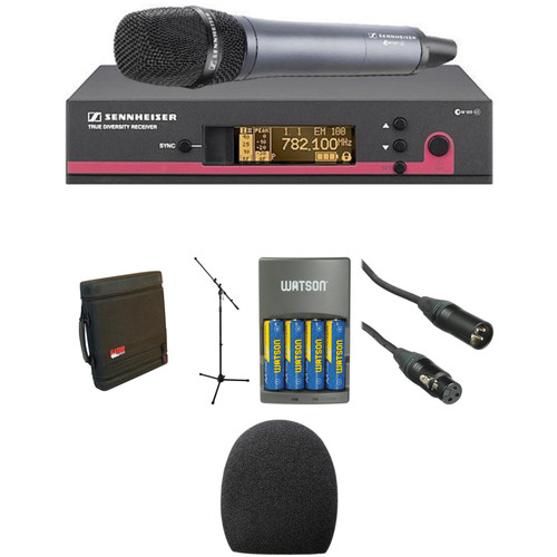 Sennheiser ew 135 G3 Handheld Microphone System, Mic Stand, and Case Kit (B: 626 to 668 MHz)