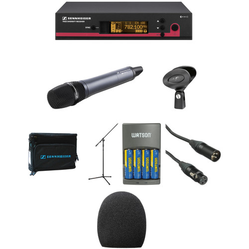 Sennheiser ew 135 G3 Handheld Microphone System, Mic Stand, and Case Kit (A1: 470 to 516 MHz)
