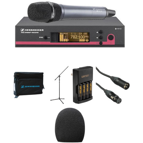 Sennheiser ew 135 G3 Handheld Microphone System, Mic Stand, and Case Kit (A: 516 to 558 MHz)