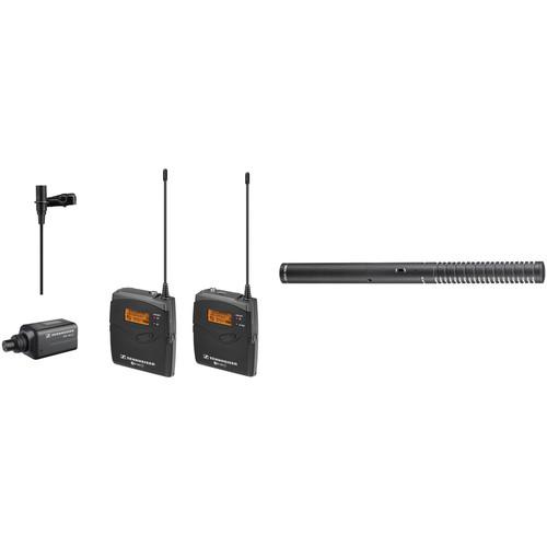 Sennheiser ew 100 ENG G3 Wireless Combo Mic System and Rode Battery/Phantom Shotgun Mic Kit A (516-558 MHz)