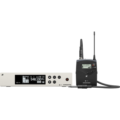 Sennheiser ew 100 G4 Wireless Instrument System with Ci 1 Guitar Cable A: (516 to 558 MHz)