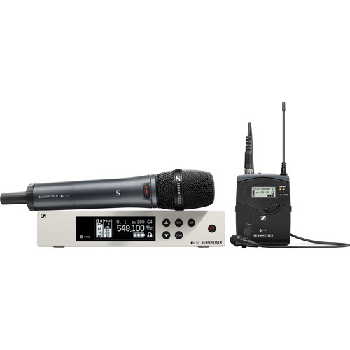 Sennheiser ew 100 G4 Combo ME2-II Lavalier and e835 Handheld Wireless Combo Kit A: (516 to 558 MHz)