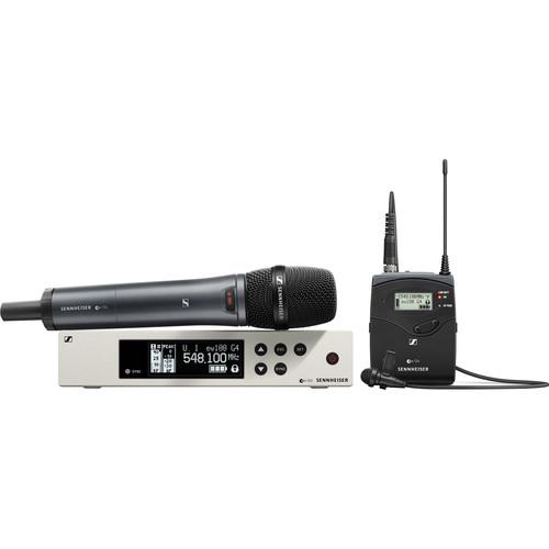 Sennheiser ew 100 G4 Combo ME2-II Lavalier and e835 Handheld Wireless Combo Kit G: (566 to 608 MHz)