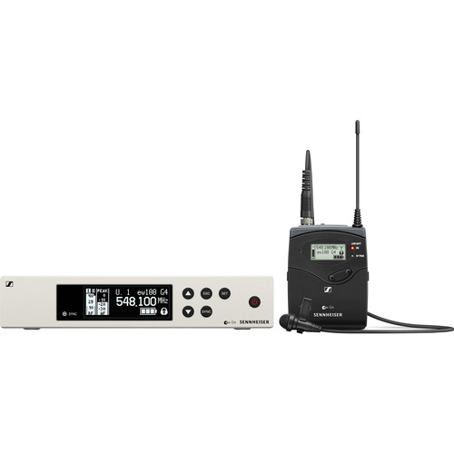 Sennheiser EW 100 G4-ME2 Wireless Omni Lavalier Microphone System (A1: 470 to 516 MHz)
