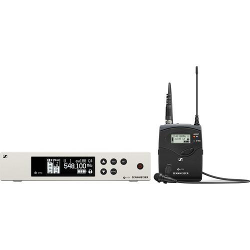 Sennheiser ew 100 G4-ME 2-II Wireless Bodypack System with ME 2-II Omnidirectional Lavalier Microphone (G: (566 to 608 MHz))