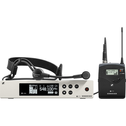 Sennheiser ew 100 G4-ME 3-II Wireless Bodypack System with ME 3-II Cardioid Headset Microphone (G: (566 to 608 MHz))