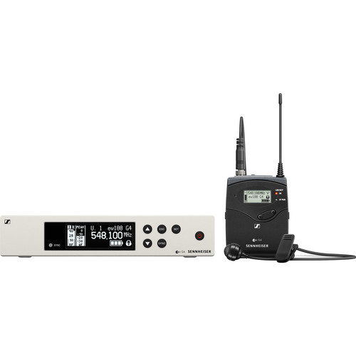 Sennheiser ew 100 G4-ME 4 Wireless Bodypack System with ME 4 Cardioid Lavalier Microphone (G: (566 to 608 MHz))