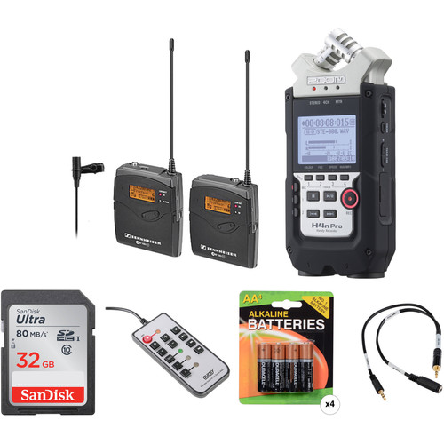 Sennheiser ew 112-P G3-A1 Wireless Lavalier System with Zoom H4n Pro Handy Recorder & Accessories Kit (470-516 MHz)