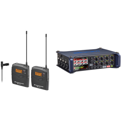 Sennheiser ew 112-p G3-A Wireless Lavalier System with Zoom F8 Multi-Track Recorder Kit (A: 516-558 MHz)