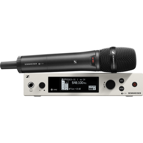 Sennheiser EW 300 G4-865-S Wireless Handheld Microphone System with MME 865 Capsule (GW1: 558 to 608 MHz)