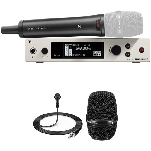 Sennheiser ew 300 G4-Base Combo Wireless Microphone System with ME 2-II Lavalier and MMD 835 Dynamic Capsule Kit (GW1: 558 to 608 MHz)