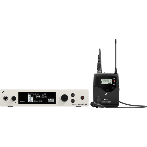 Sennheiser ew 300-ME2-RC Bodypack Lavalier Set with ME2II Microphone, AW+: (470 to 558 MHz)