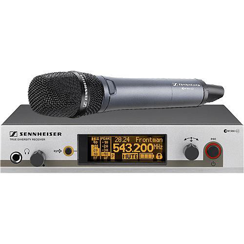 Sennheiser EW345 G3 Wireless Handheld Microphone System with 845 Mic (Frequency A1: 470 to 516 MHz)