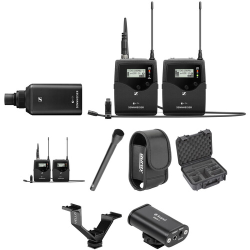 Sennheiser EW 500 G4 2-Person Camera-Mount Wireless Combo Microphone System Kit (AW+: 470 to 558 MHz)