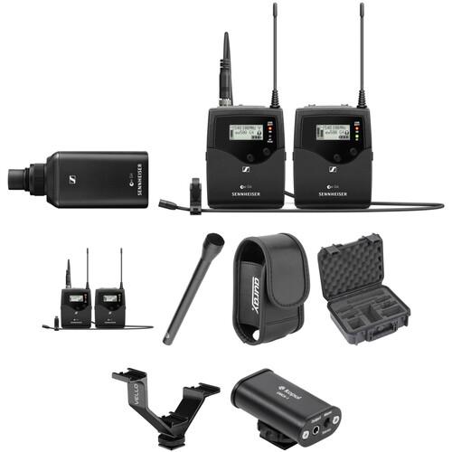 Sennheiser EW 500 G4 2-Person Camera-Mount Wireless Combo Microphone System Kit (GW1: 588 to 608 MHz)