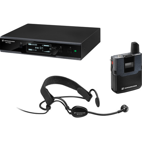 Sennheiser ew D1-ME3 Digital Wireless Headworn Mic Set with ME 3-II Headworn Microphone