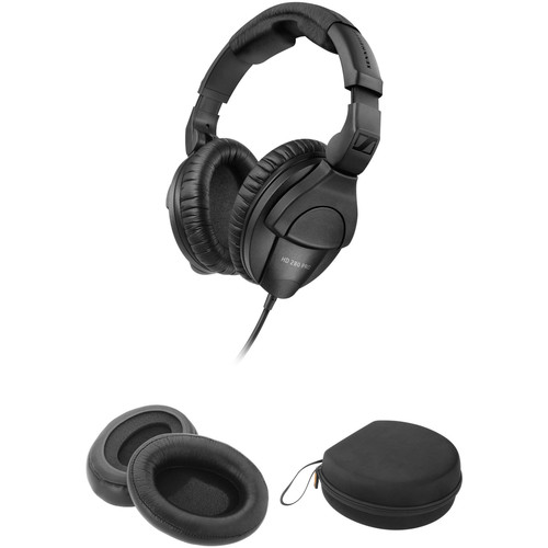 Sennheiser HD 280 Pro Closed Circumaural Headphones with Case and Accessory Kit