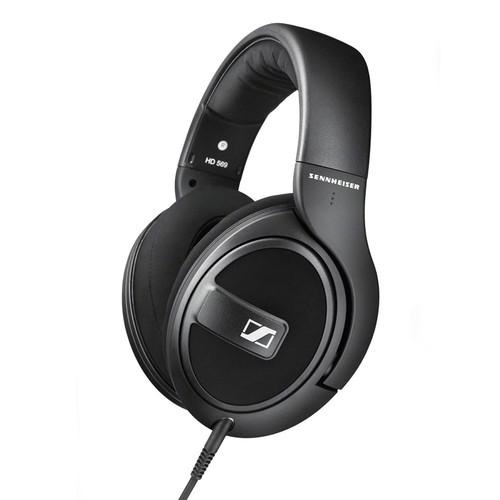 Sennheiser HD 569 Closed-Back Around-Ear Headphones with 1-Button Remote Mic (Black)