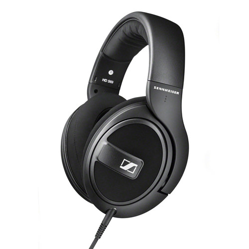Sennheiser HD 569 Closed-Back Around-Ear Headphones with 1-Button Remote Mic (Black)