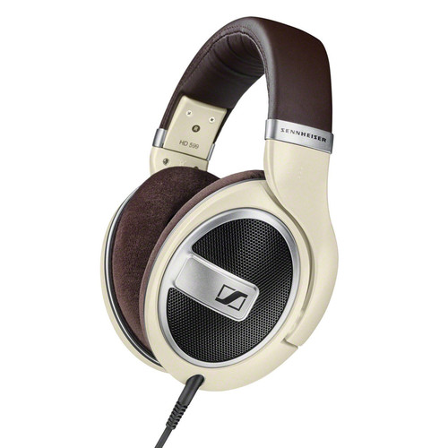 Sennheiser HD 599 Open-Back Around-Ear Headphones (Matte Ivory)