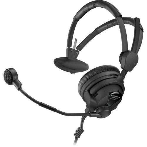 "Sennheiser HMD26-II-600S-X3K1 Single-Sided Broadcast Headset with Hypercardioid Mic and XLR-3, 1/4"" Cable"