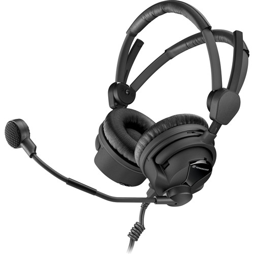 """Sennheiser Boomset, 100 OHM, with Dynamic HyperCardiod Microphone and Cable-II-X3K1, XLR and 1/4"""""""