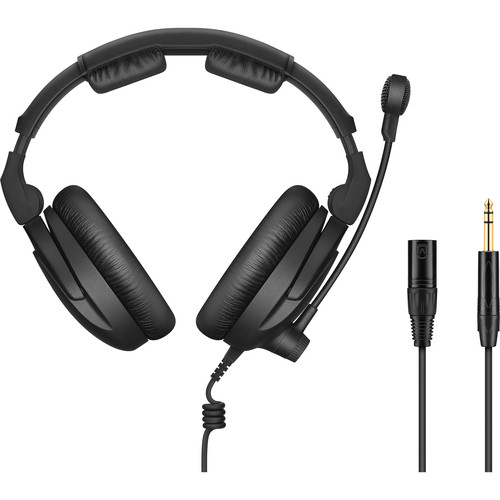 """Sennheiser HMD 300 XQ-2 Headset with Boom Microphone & Cable with XLR and 1/4"""" Jacks"""