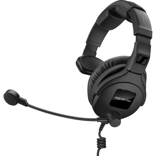 Sennheiser HMD 301 PRO Single-Sided Broadcast Headset with Boom Microphone, No Cable