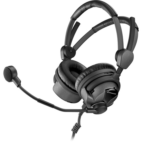 Sennheiser HMDC26-II-600-B7 Double-Sided Broadcast Headset with Hypercardioid Mic and Steel Wire, Battery-Powered Control Unit