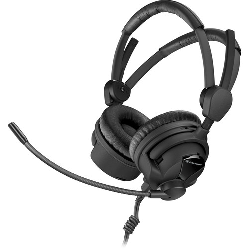 """Sennheiser HME26-II-100-X3K1 Double-Sided Broadcast Headset with Omnidirectional Mic & XLR-3, 1/4"""" Cable"""