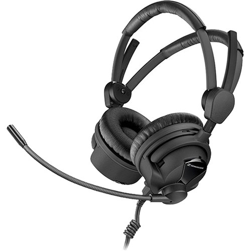 Sennheiser HME26-II-100 (4)-8 Double-Sided Broadcast Headset with Cardioid Mic & Unterminated Cable