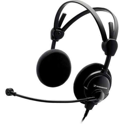 Sennheiser Headset with Condenser Microphone & 6.1' Open Ends Single-Sided Round Cable