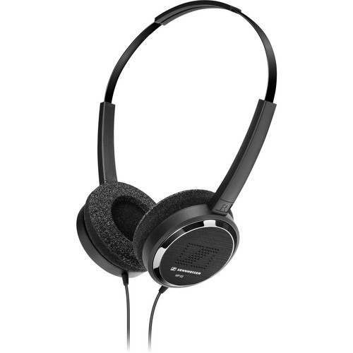 Sennheiser HP 02-140 Lightweight On-Ear Headphones with 3.5mm Stereo Right-Angle Connector (20-Pack)