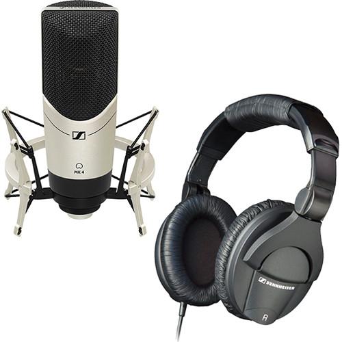 Sennheiser MK4 Studio LE - Condenser Microphone and Headphone Bundle