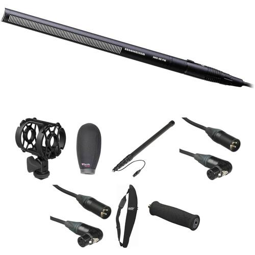 Sennheiser MKH-416 Shotgun Microphone Deluxe Boompole Kit with Rycote Super Softie