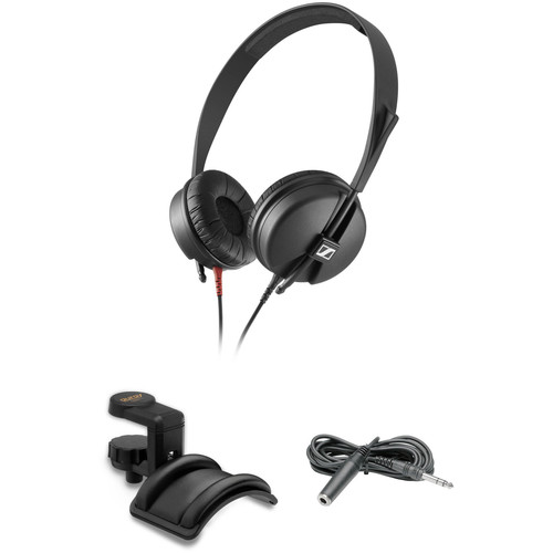 Sennheiser HD 25 LIGHT Monitor Headphones Kit with Holder and Extension Cable