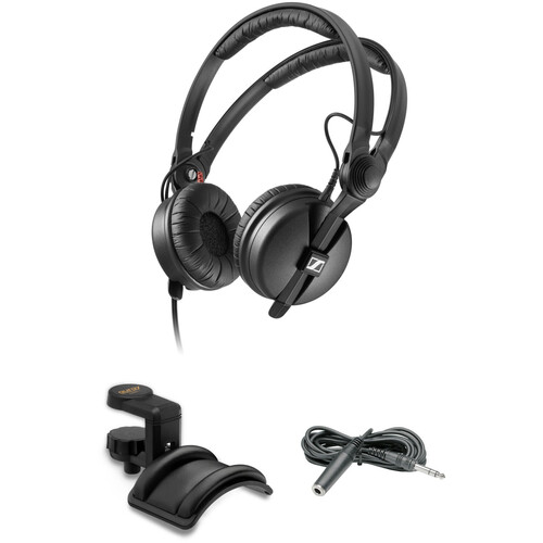Sennheiser HD 25 Monitor Headphones Kit with Holder and Extension Cable