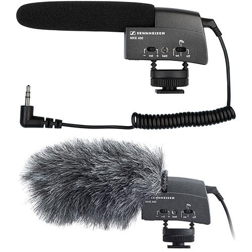 Sennheiser MKE 400 Camera-Mount Shotgun Microphone Kit with Rycote Windshield